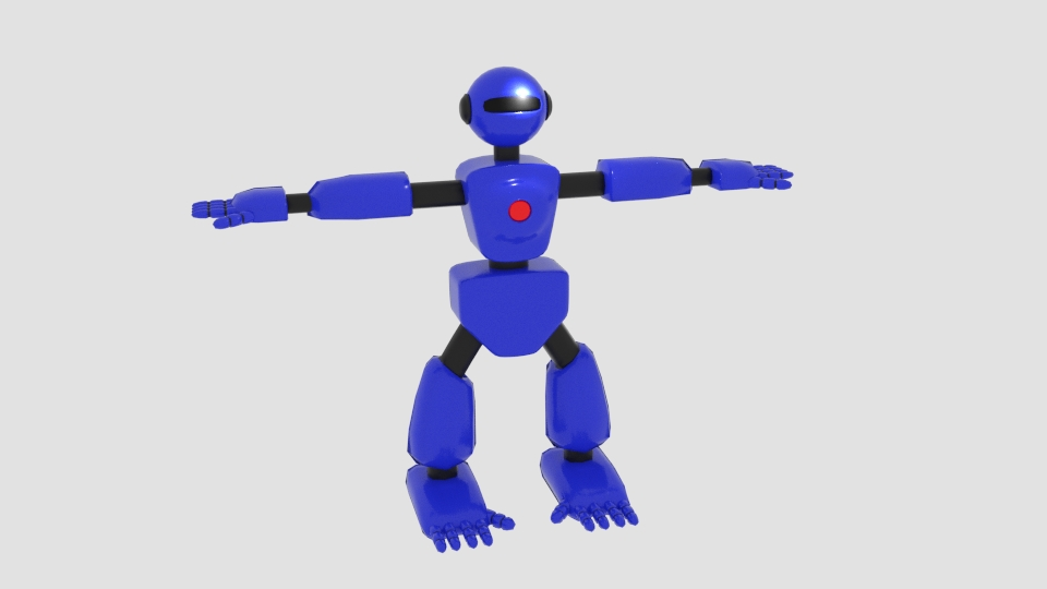robot character cartoon bot 3d model blend 222443