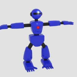 Robot Character Cartoon Bot 3d model blend