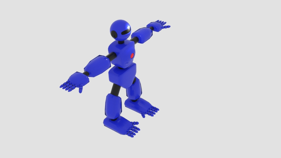 robot character cartoon bot 3d model blend 222444