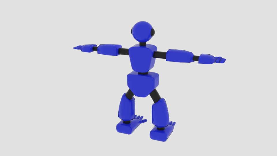 robot character cartoon bot 3d model blend 222445