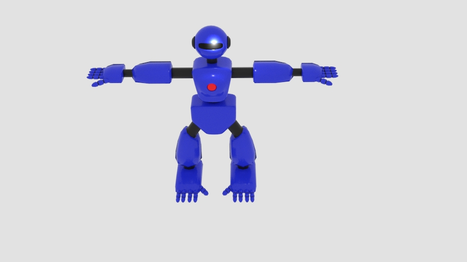 robot character cartoon bot 3d model blend 222446