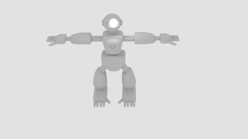 robot character cartoon bot 3d model blend 222447