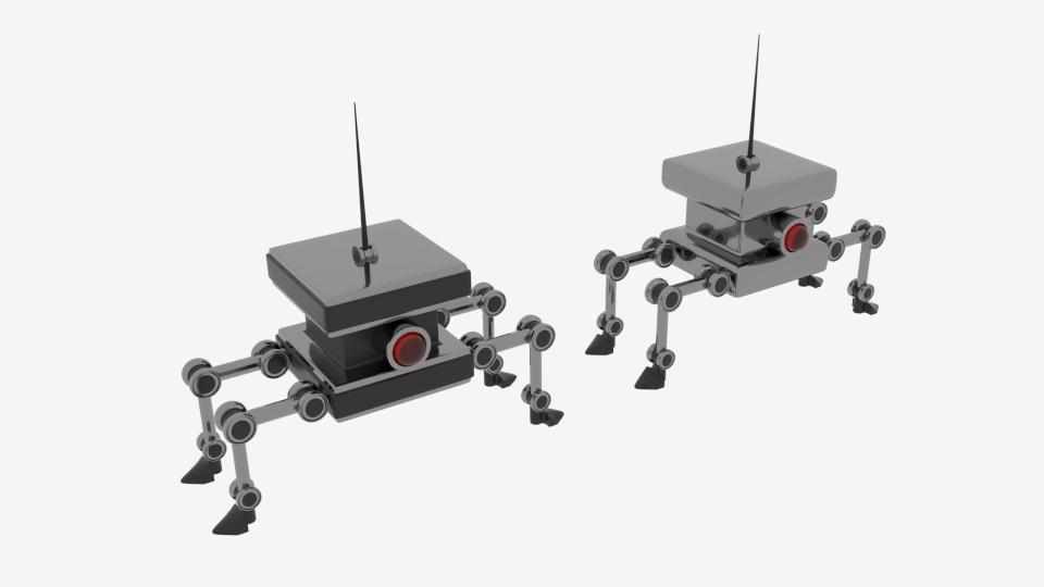 byrgyr ciwb bot Model 3d yn cyfuno 222450