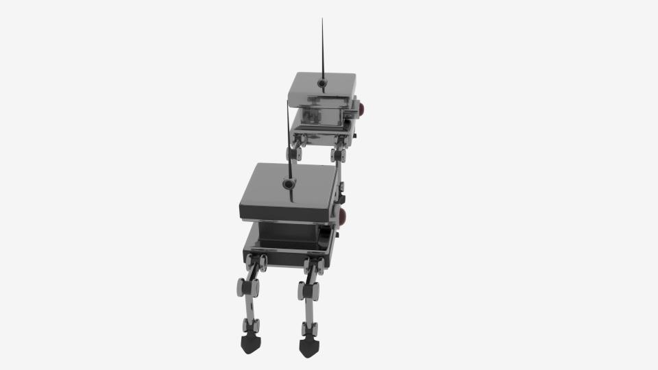 byrgyr ciwb bot Model 3d yn cyfuno 222451
