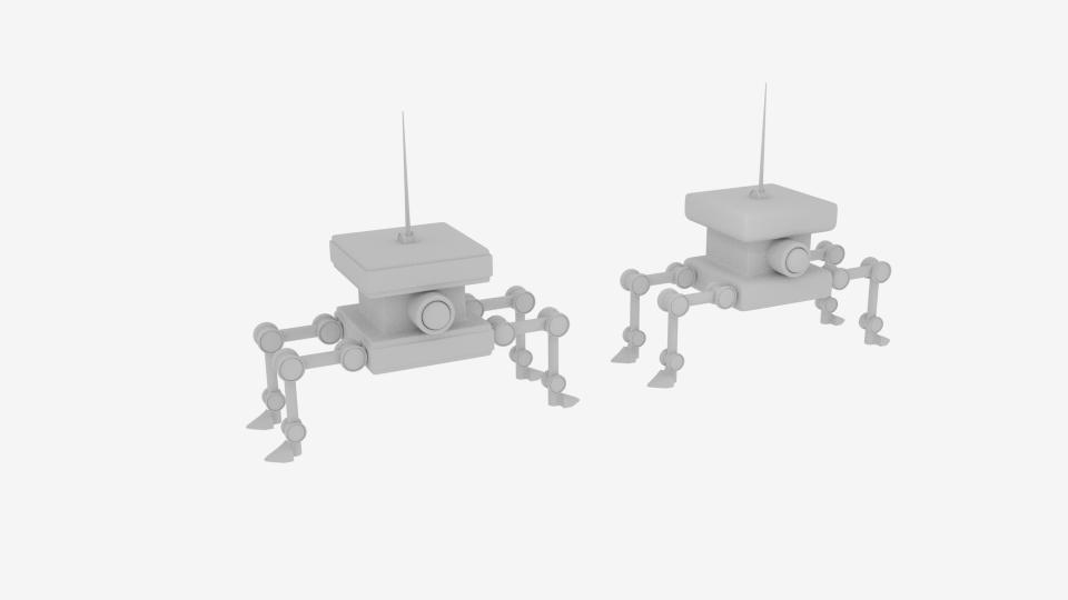 byrgyr ciwb bot Model 3d yn cyfuno 222454