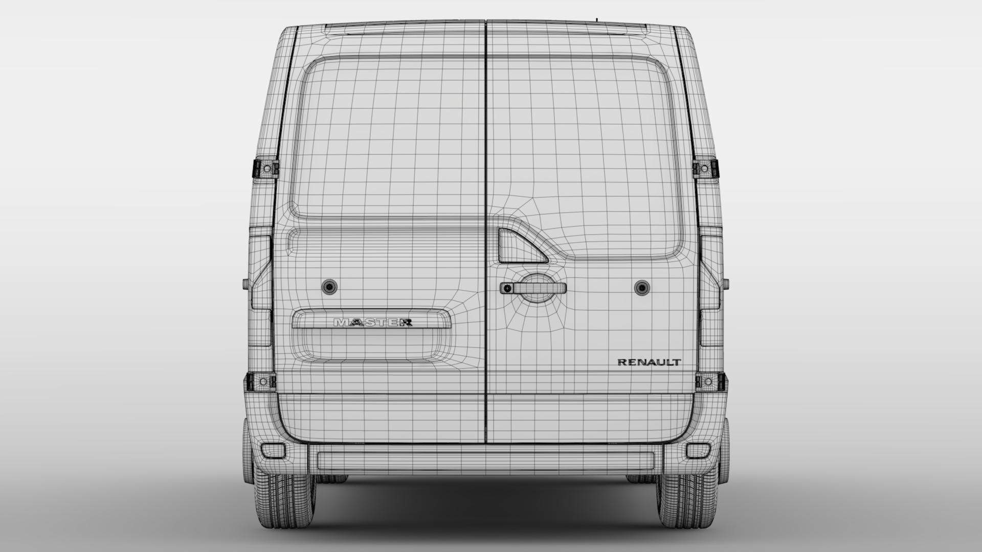 renault meistars l1h1 van 2017 3d modelis 3ds maks.