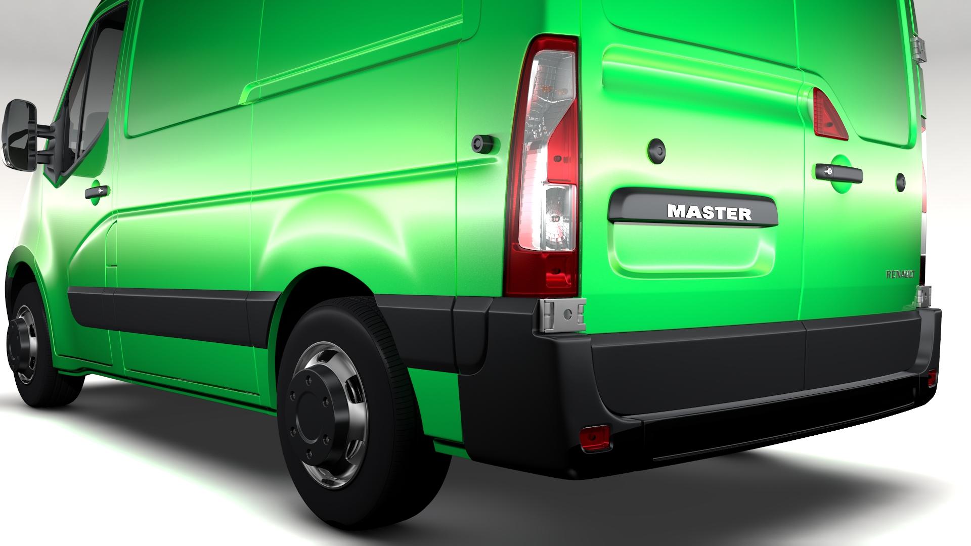 renault mater l1h1 van 2010 3d model 3ds max fbx c4d