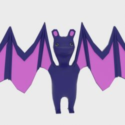 Character Toon Bat 3d model 0