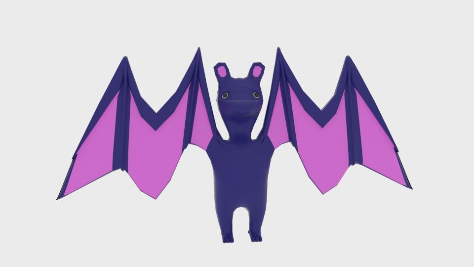 bat toon cymeriad cyfuniad model 3d 222911