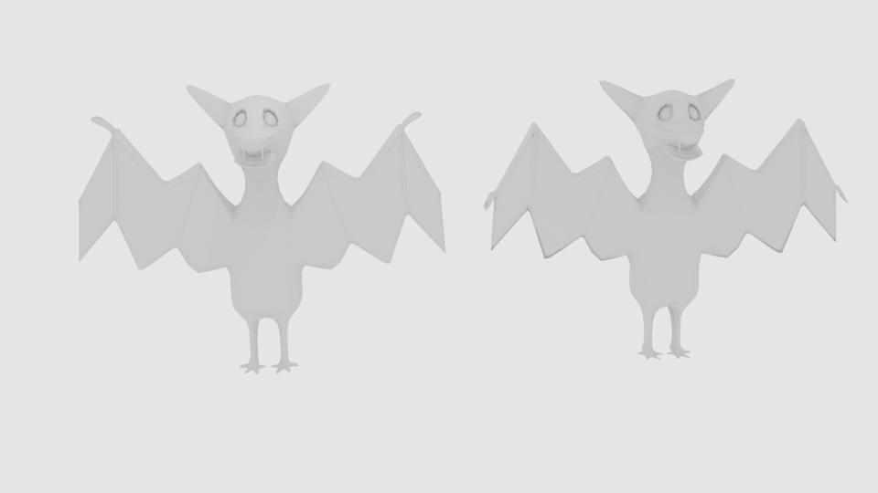 cartoon bat 3d model blend 222922