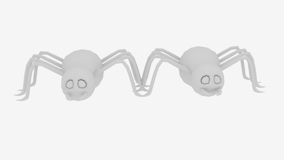 cartoon spider 3d model blend 222929