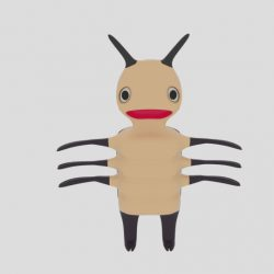 Cartoon Bug 3d model 0