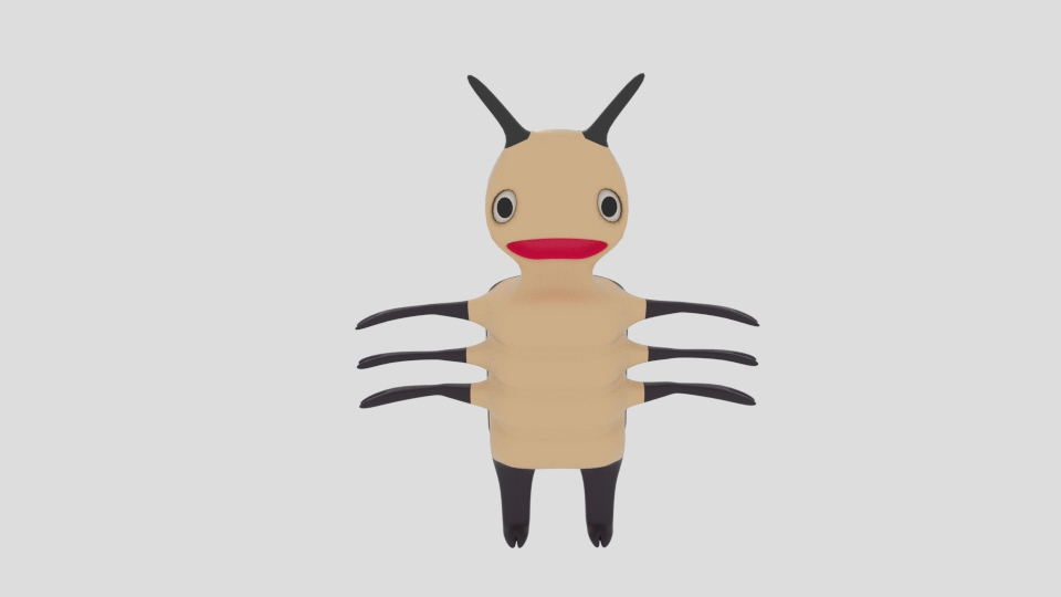 cartoon bug 3d model blend 222932