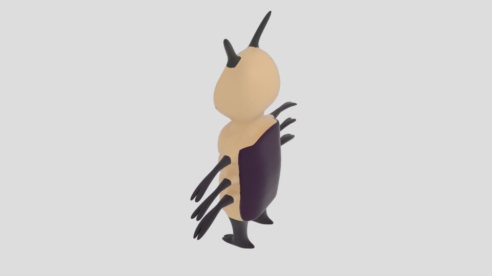 cartoon bug 3d model blend 222933