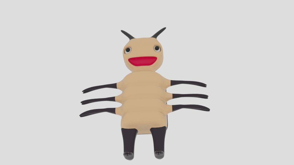 cartoon bug 3d model blend 222934