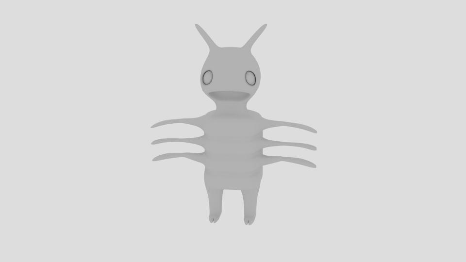 cartoon bug 3d model blend 222936