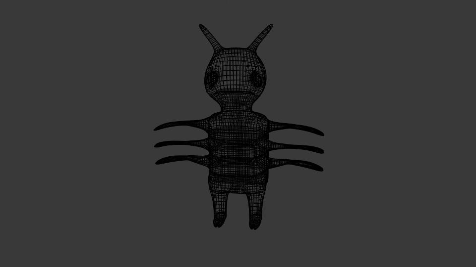 cartoon bug 3d model blend 222937