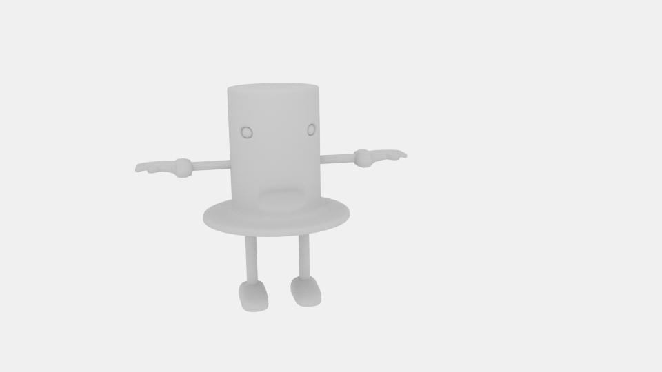 cartoon top hat character 3d model blend 222943