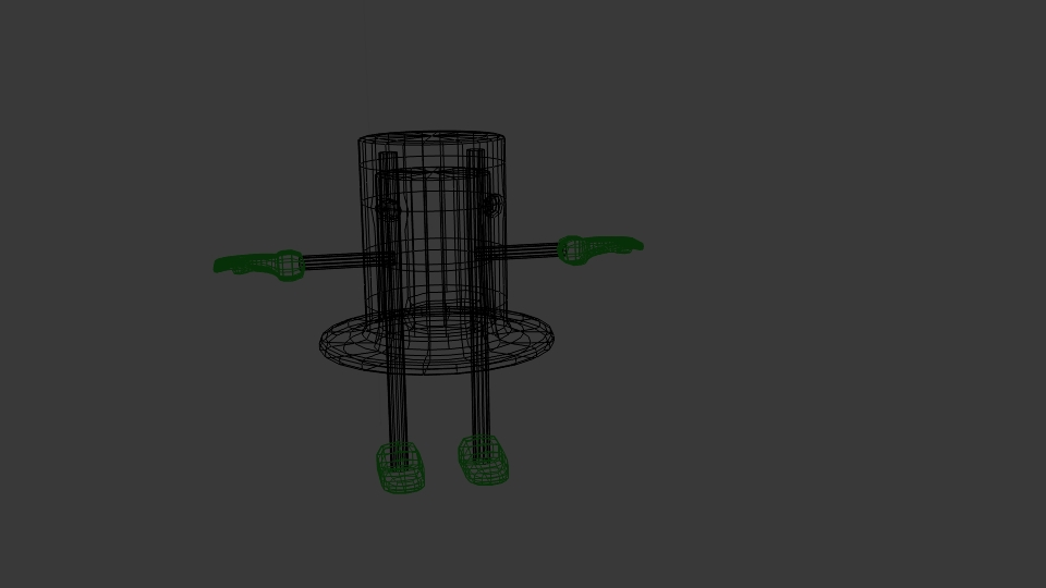 cartoon top hat character 3d model blend 222944
