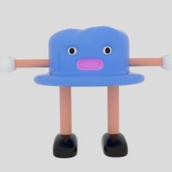 Cartoon Hat Character 3d model 0