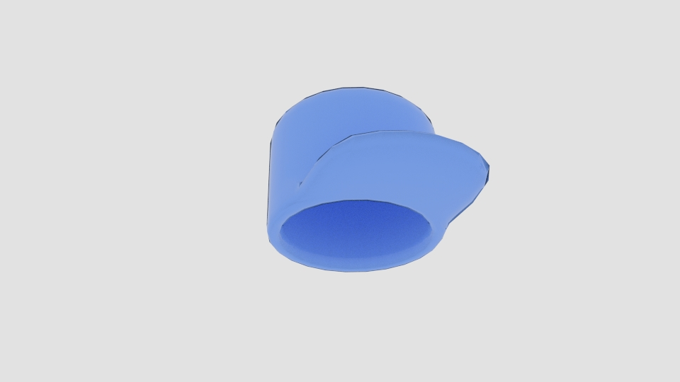 cartoon cap character 3d model blend 222956