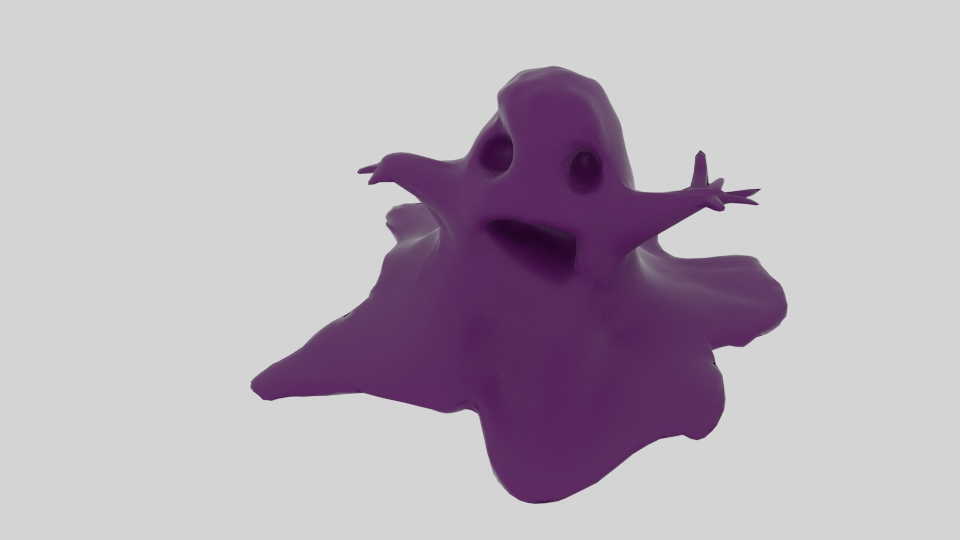 slimemonster 3d model blend 222967