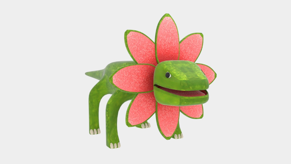 petal monster lizard 3d model blend 222995