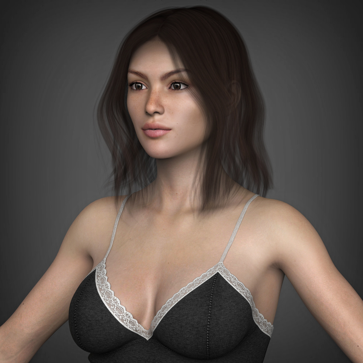 young beautiful woman 3d model max fbx c4d ma mb texture obj 223023