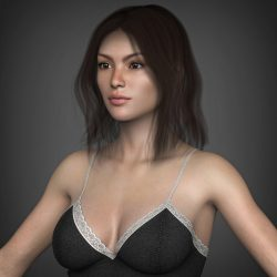 Young Beautiful Woman 3d model 0