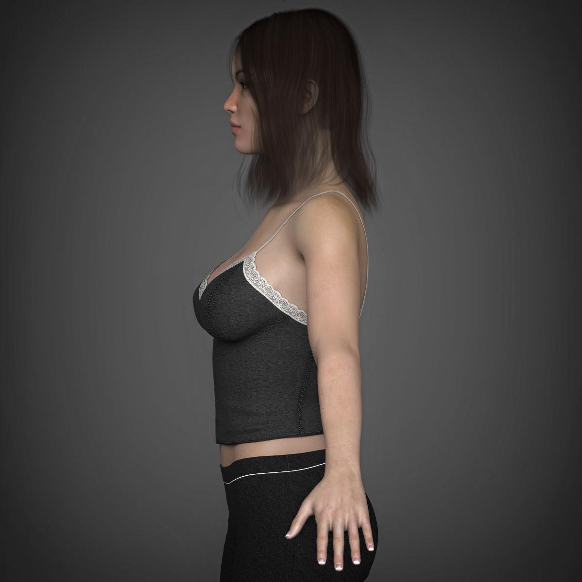 young beautiful woman 3d model max fbx c4d ma mb texture obj 223025
