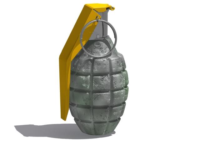 katonai gránát 3d modell max fbx 223047