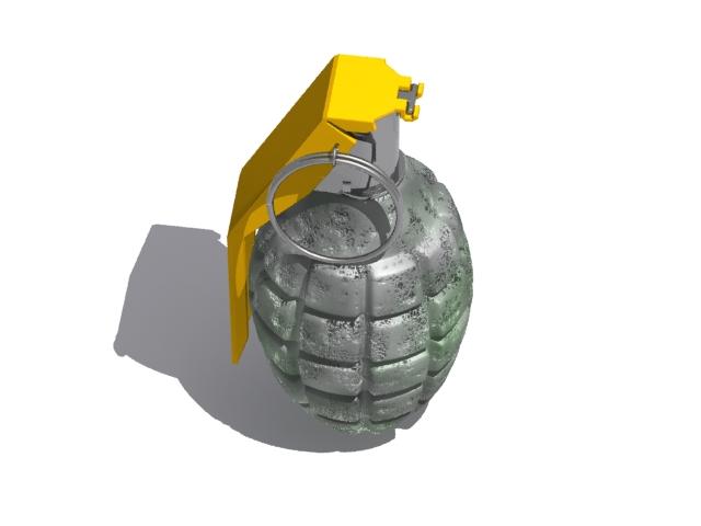 vojna granata 3d model max fbx 223048