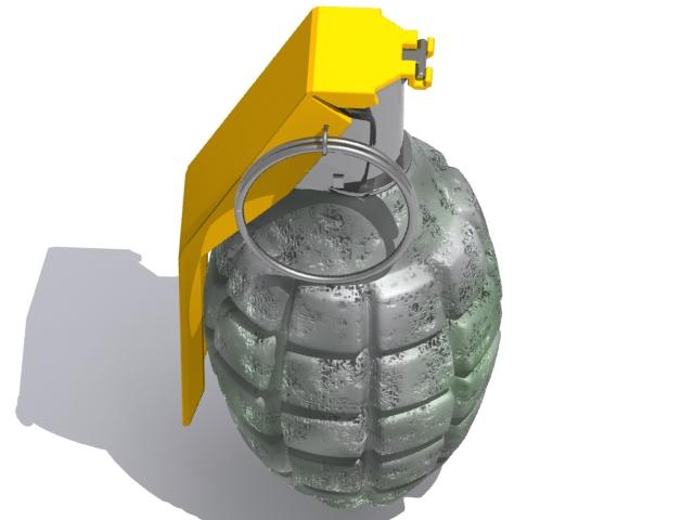 vojna granata 3d model max fbx 223051