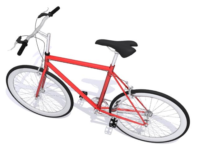 mountain bike 3 3d model max fbx 223055