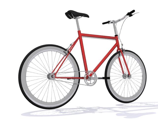mountain bike 3 3d model max fbx 223057