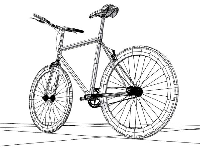 mountain bike 3 3d model max fbx 223059