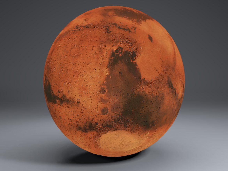 Mars 8k Globe 3d model 3ds fbx blend dae obj