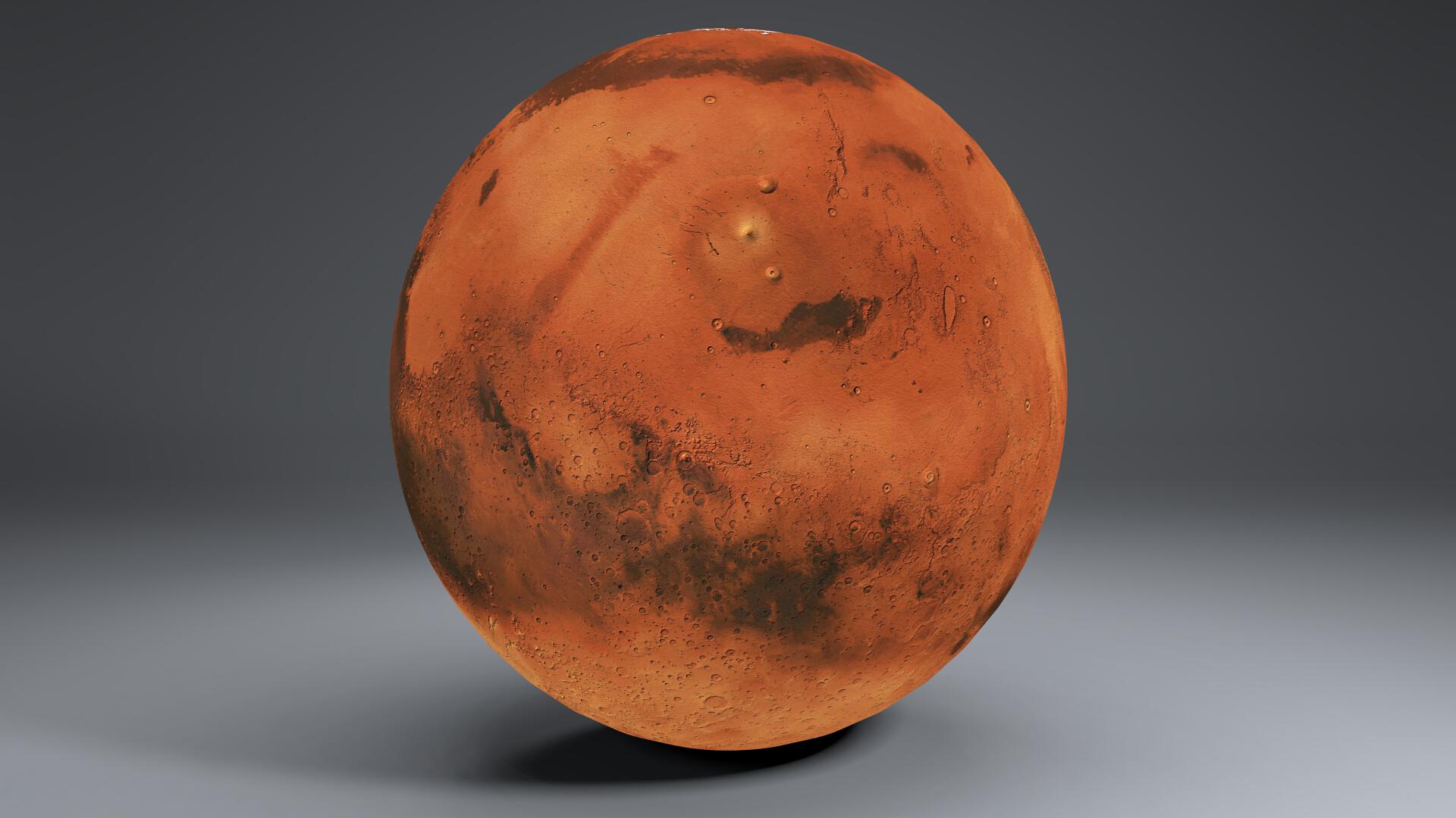 Mars 8k globe 3d model 3ds fbx qarışığı da 223131