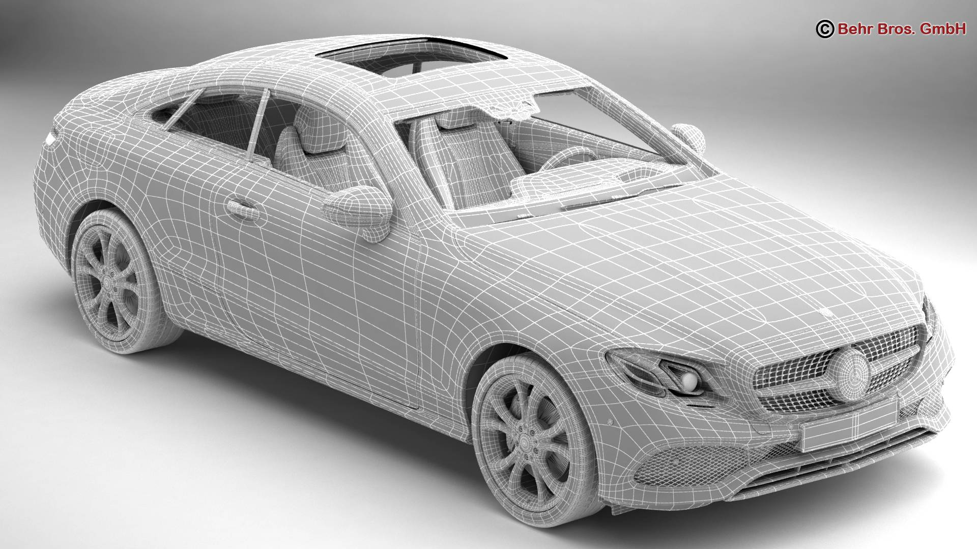 mercedes e class coupe 2017 3d model 3ds max fbx c4d lwo ma mb obj 223259