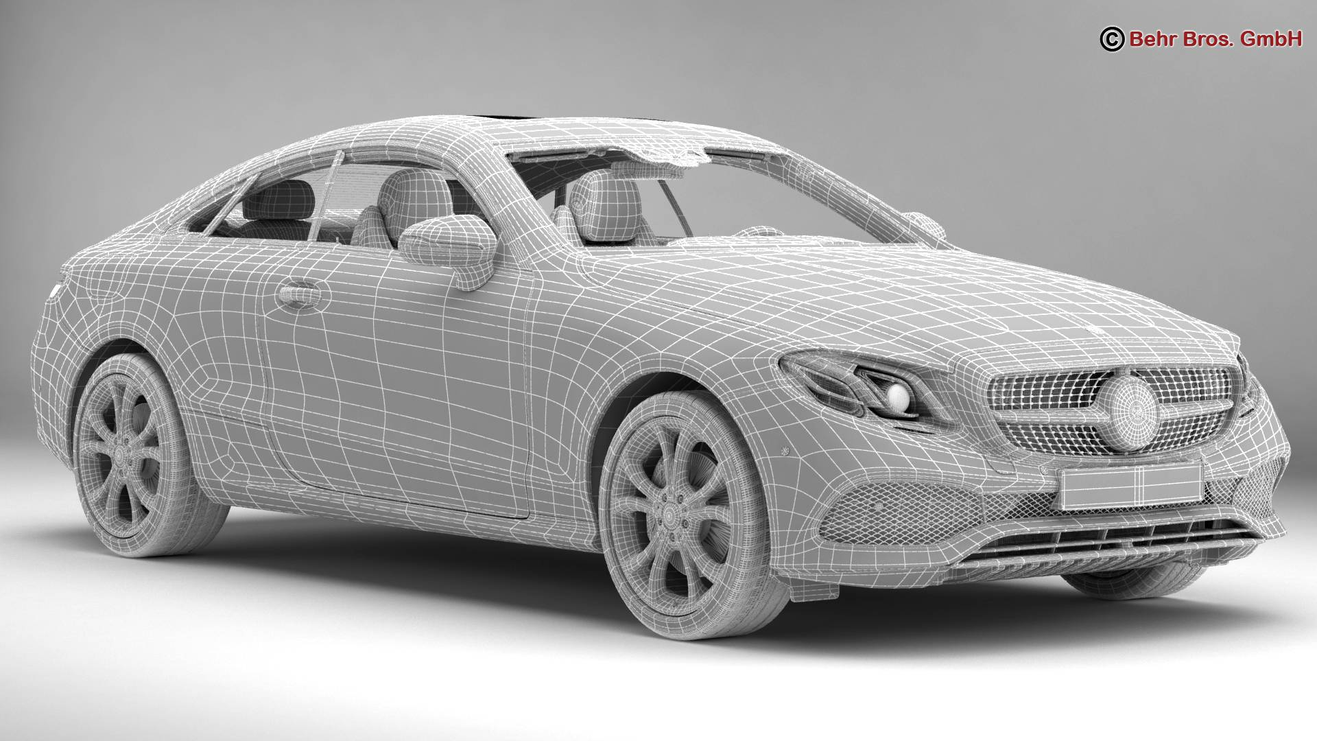 mercedes e class coupe 2017 3d model 3ds max fbx c4d lwo ma mb obj 223260