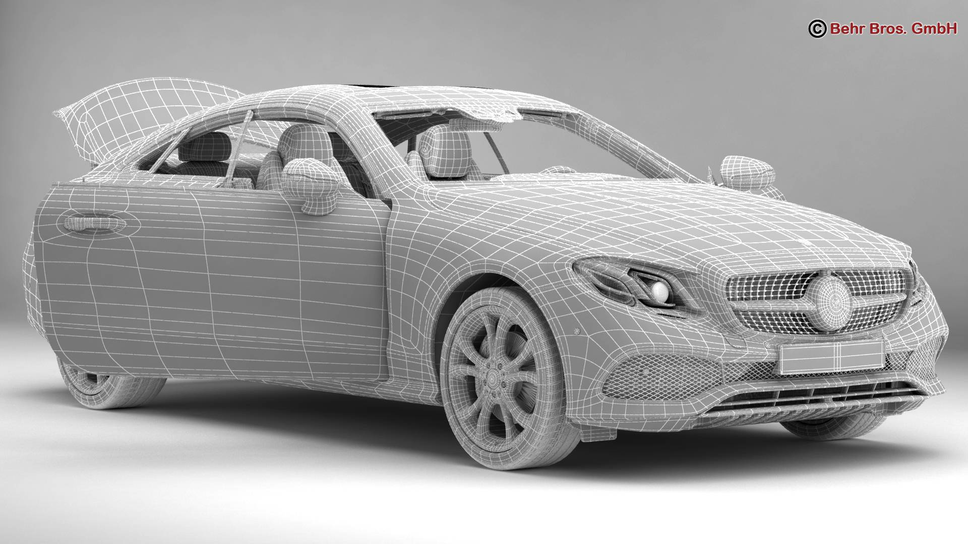 mercedes e class coupe 2017 3d model 3ds max fbx c4d lwo ma mb obj 223261