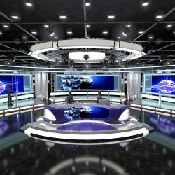 Virtual TV Studio News Set 1 3d model max dxf fbx c4d obj