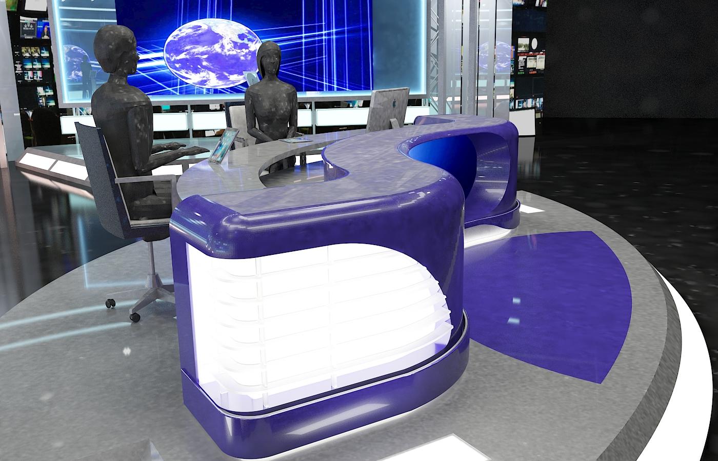 виртуал телевизийн студи мэдээ багц 1 3d загвар max dxf fbx c4d obj 223303