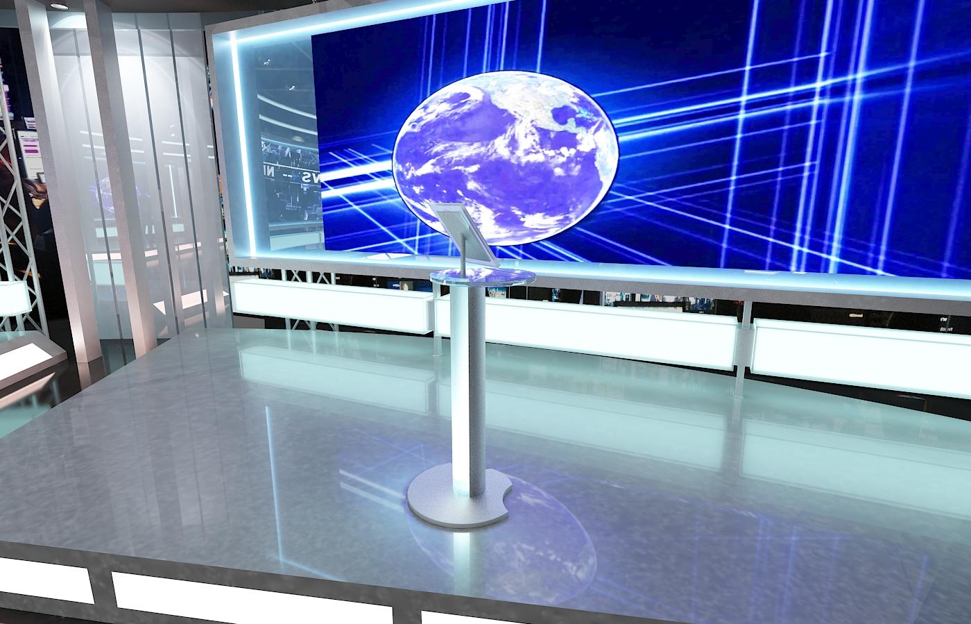 виртуал телевизийн студи мэдээ багц 1 3d загвар max dxf fbx c4d obj 223307