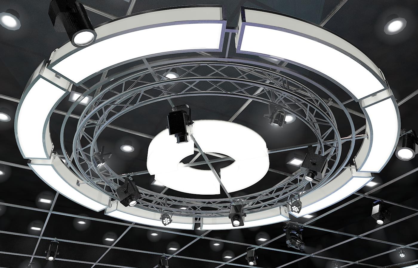 виртуал телевизийн студи мэдээ багц 1 3d загвар max dxf fbx c4d obj 223309
