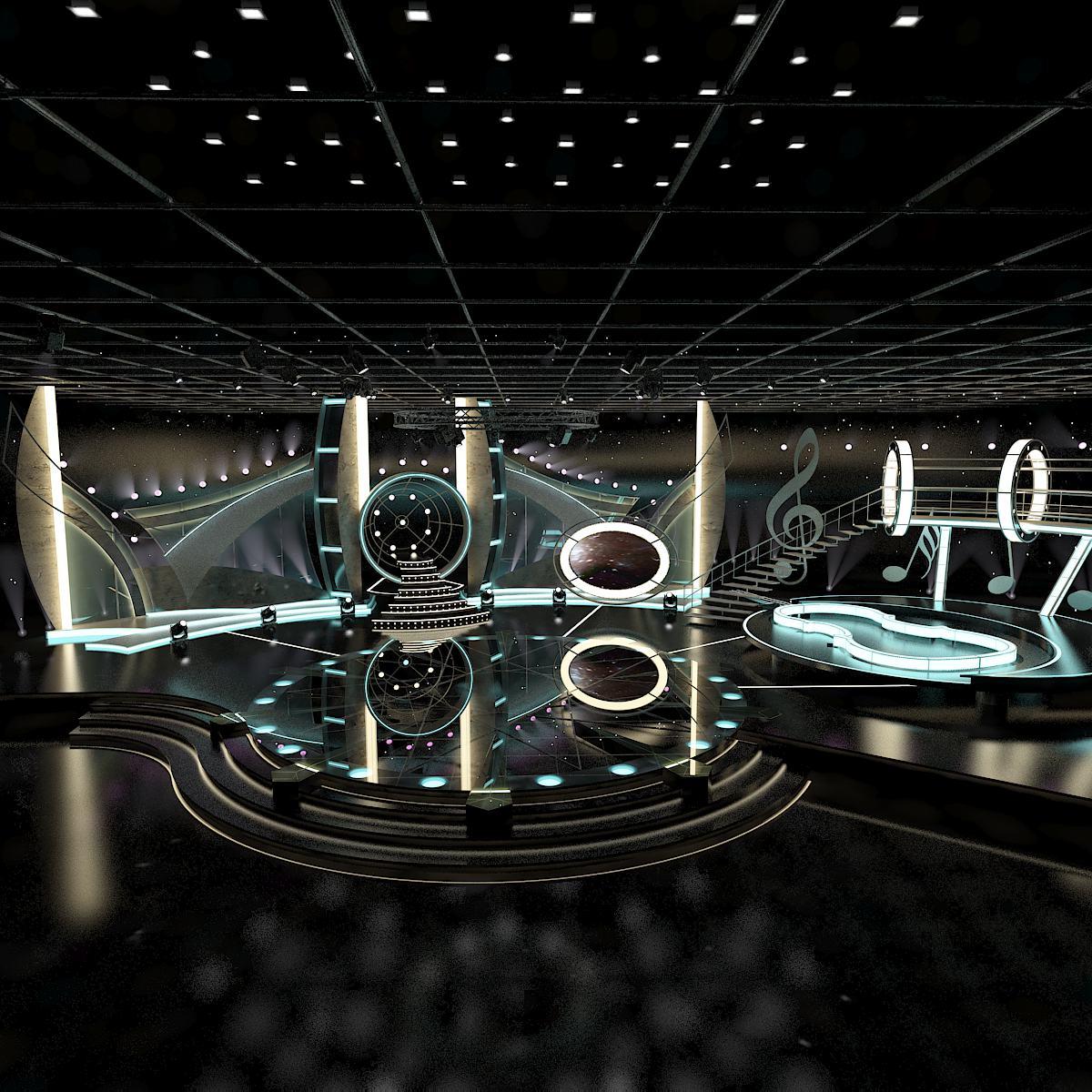 Virtual TV Entertainment Set 1 3d model max dxf dwg  obj 223339