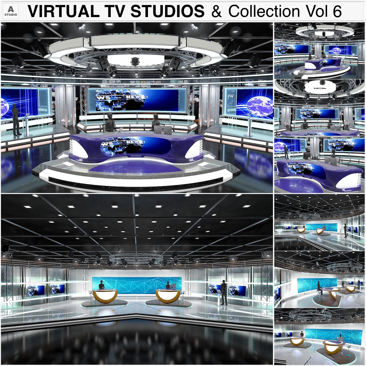 virtual tv studiji kolekcija vol 6 3d model max dxf dwg fbx obj 223361