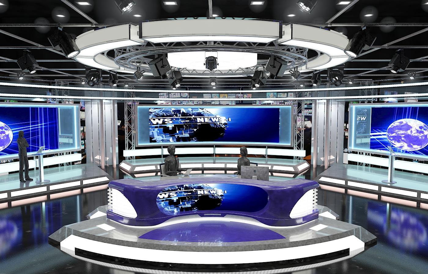 виртуал телевизийн студи цуглуулга vol 6 3d загвар max dxf dwg fbx obj 223362