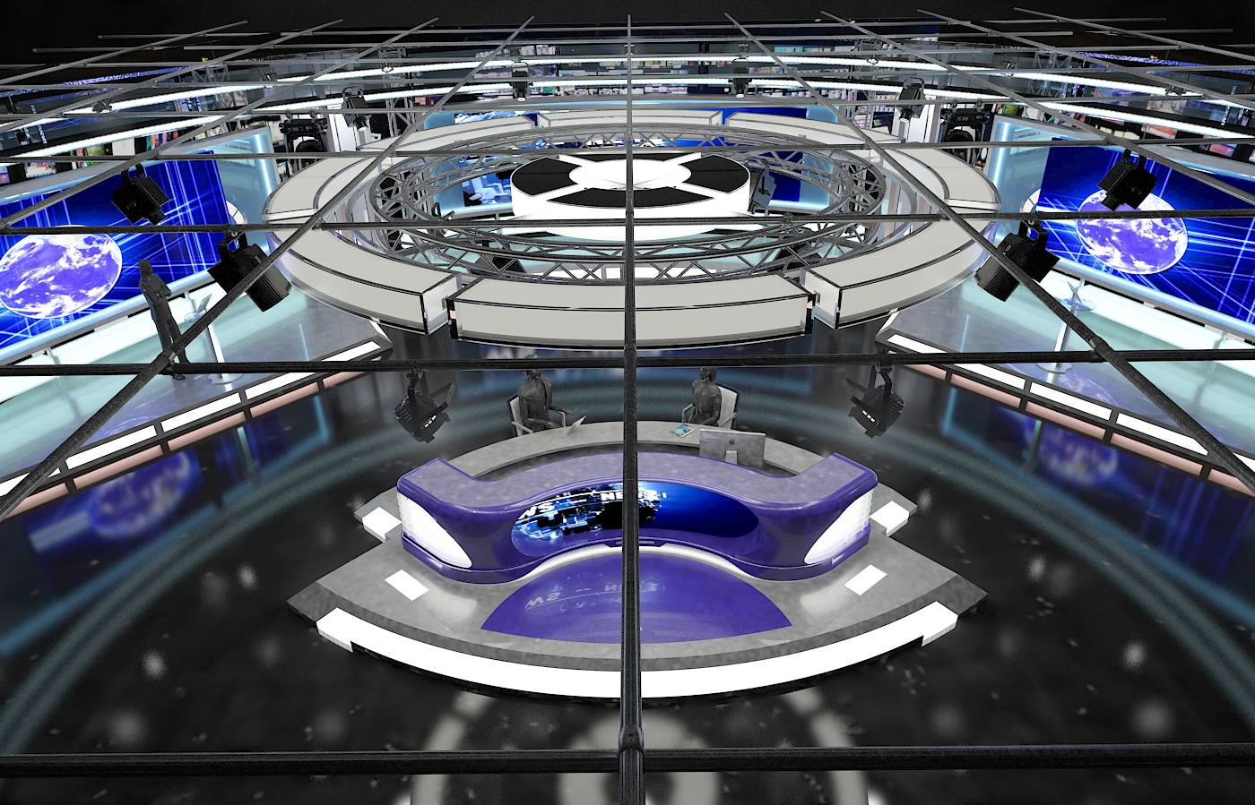 виртуал телевизийн студи цуглуулга vol 6 3d загвар max dxf dwg fbx obj 223376