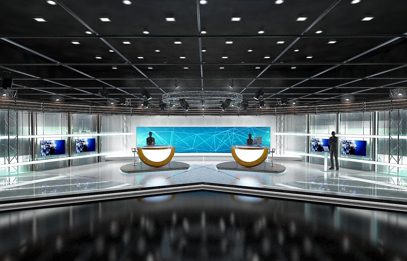 виртуал телевизийн студи цуглуулга vol 6 3d загвар max dxf dwg fbx obj 223393